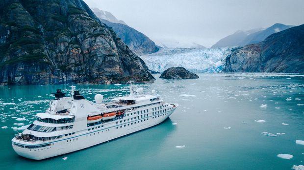 Focusing On A Cruise Ship